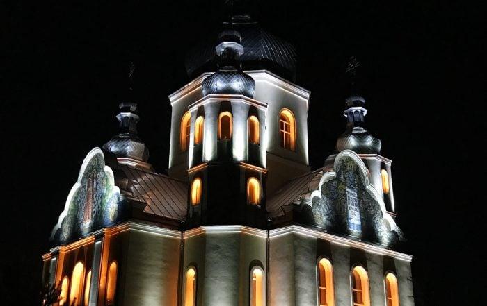 Архітектурне освітлення Храму