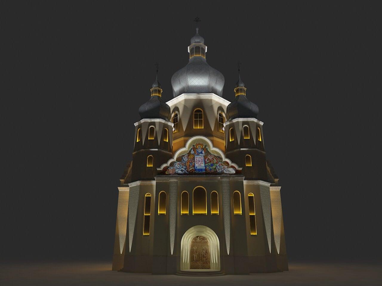 Макет освітлення церкви(передній план)
