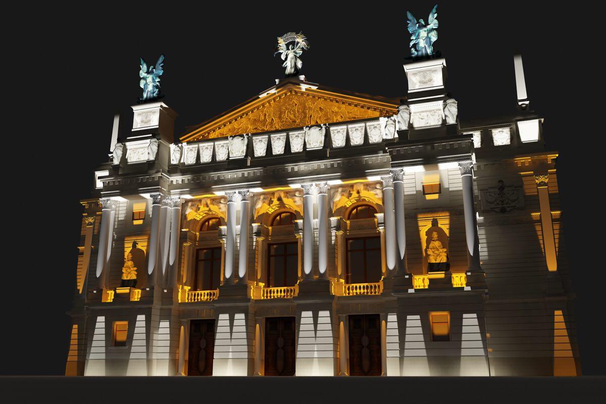архітектурне освітлення оперного театру