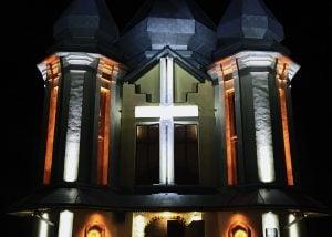 Архітектурне освітлення церкви