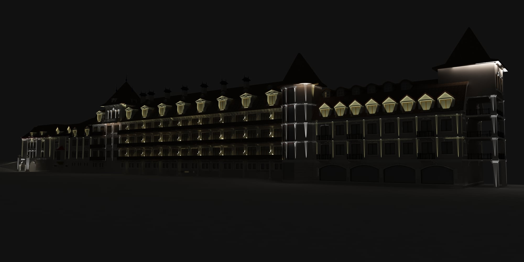 Архітектурне освітлення Edem Resort(макет)