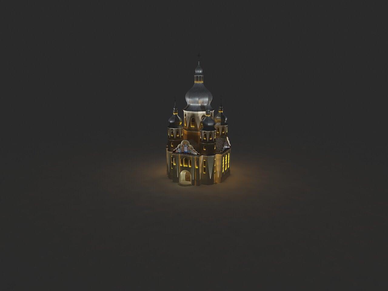 Макет освітлення церкви